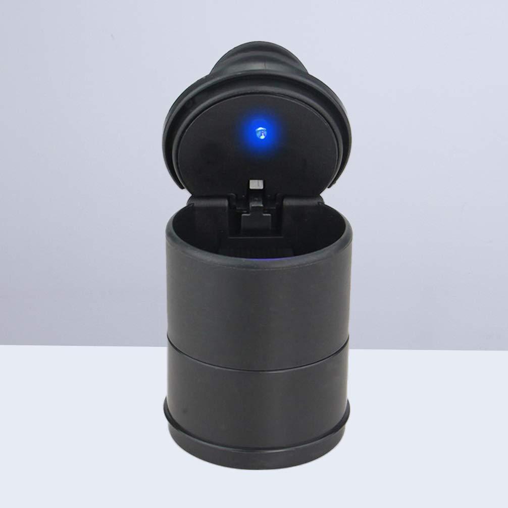 Garneck Portacenere senza fumo per barattolo di sigaretta per auto separabile con porta LED e luce per auto