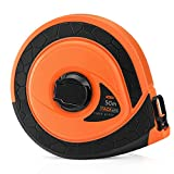 Tacklife TM-C03 Classic Tape Measure 164Ft Fiberglass Measuring Reel Retractable Double-Sided Metric and Imperial Scale Engineer Tape Ruler - Ideal Father's Day Gift