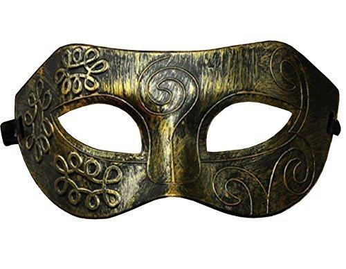 Homme Inception Pro Infinite Masque Couleur Bronze Antique Flexible Esot/érique Femme Carnaval Unisexe Halloween V/énitien Effet M/étallique