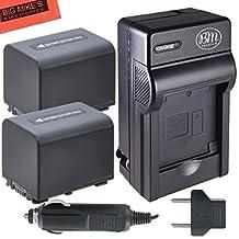 BM Premium Pack of 2 NP-FV70 Batteries & Charger Kit for Sony FDR-AX53, HDR-CX455/B, HDR-CX675/B, HDR-CX330, HDR-CX900, HDR-PJ340, HDR-PJ540, HDR-PJ670/B, HDR-PJ810, FDR-AX33/B, FDR-AX100 Handycam Camcorder