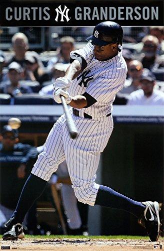 Curtis Granderson - New York Yankees MLB Art Print Póster: Amazon ...