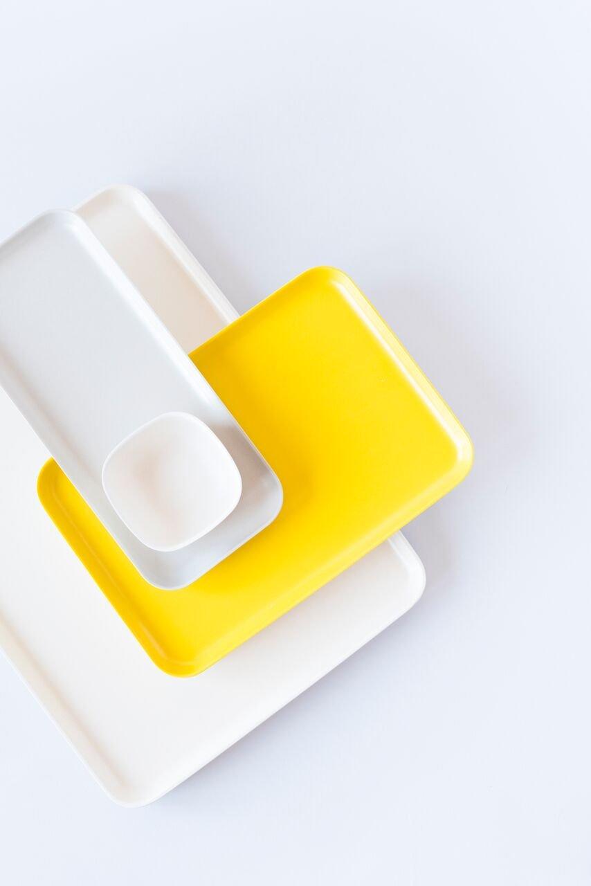 EKOBO Biobu Gusto Tray, Medium, Lemon