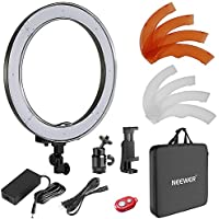 Neewer 18 inches/48 centimeters Outer SMD LED Ring Light Dimmable Ring Lighting Kit Includes Filters,Rotatable Phone Holder,Ball Head and Carrying Bag for Portrait Video Shooting(Stand Not Included)