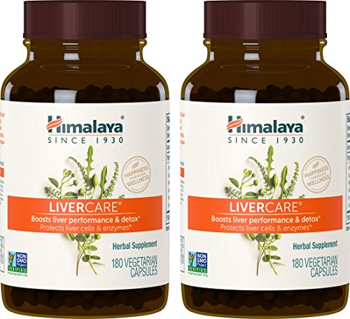 Himalaya LiverCare (2 Pack) 180 VCaps for Liver Detox, Liver Cleanse and Regeneration 375mg