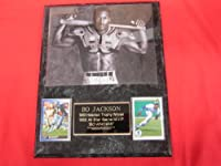 Bo Jackson 2 Card Collector Plaque w/8x10 CLASSIC FAMOUS Photo