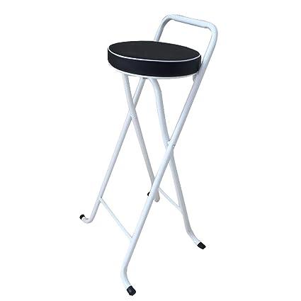 Awe Inspiring Amazon Com Bar Stool Folding High Stool Steel Frame Pu Seat Bralicious Painted Fabric Chair Ideas Braliciousco
