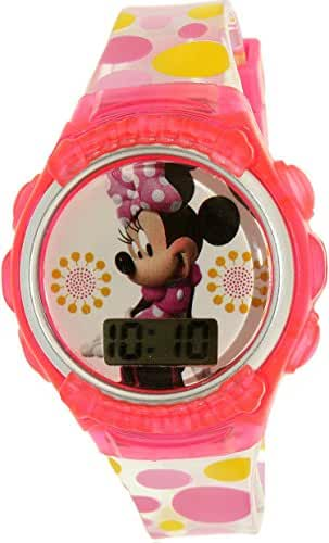 Disney Girl's Minnie Mouse MINKD360KM Pink Plastic Quartz Watch