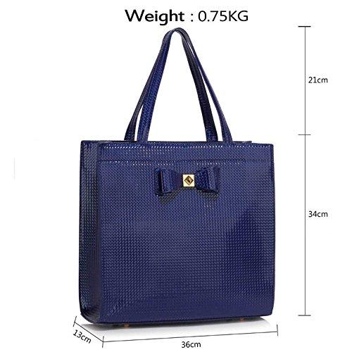 Sacs Cw2020 Main Style Brevet Pour tout Décoration Mode Épaule Celeb blue marine Sac Femme A Leahward® Fourre Cws00383 Cw2064 Bow Cws00383a À q5Tw600