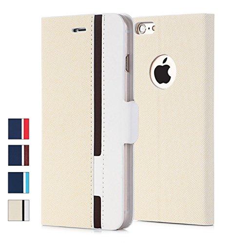 iPhone 6S plus Hülle, iPhone 6 Plus Hülle, Fyy® [Spitzenserie] Hochwertige Kunstleder Hülle, allgewaltige Tasche für Apple iPhone 6 Plus/6S Plus (5.5 Zoll),Streifen-3