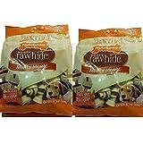 Nylabone Rawhide Meaty Dog Bone Bacon Flavor Treats 2- 18ct 9.05oz Bags (Pack of 2)