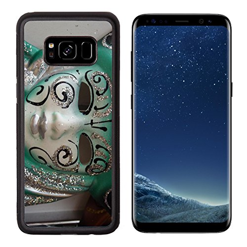 Liili Premium Samsung Galaxy S8 Aluminum Backplate Bumper Snap Case Venetian carnival mask IMAGE ID 11804089