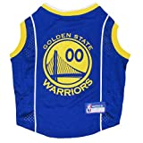 GOLDEN STATE WARRIORS Dog Jersey ★ ALL SIZES ★ Licensed NBA (Small)