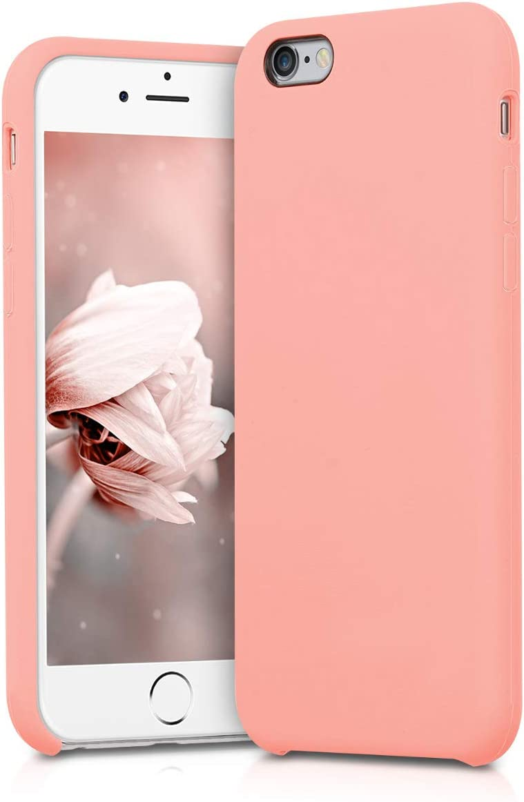 kwmobile TPU Silicone Case Compatible with Apple iPhone 6 / 6S - Soft Flexible Rubber Protective Cover - Rose Gold Matte