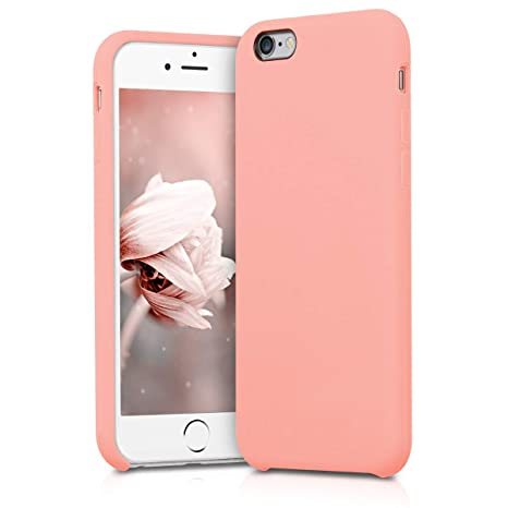 kwmobile Funda compatible con Apple iPhone 6 / 6S - Carcasa de TPU para móvil - Cover trasero en rosa oro mate