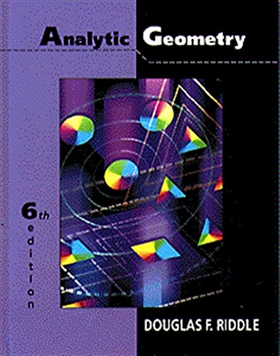 analytic geometry by douglas riddle pdf free download