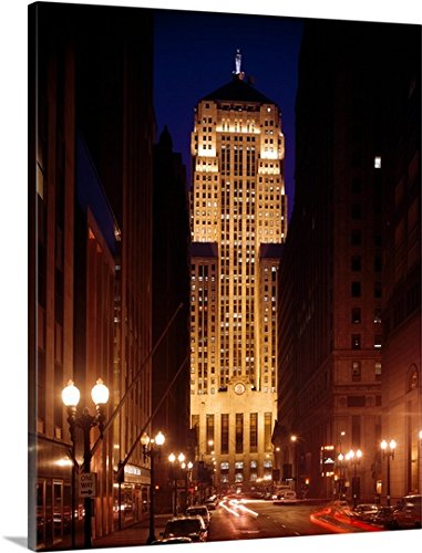 Canvas On Demand Premium Thick-Wrap Canvas Wall Art Print entitled Chicago Board of Trade Building, LaSalle Street, Chicago, Illinois 24