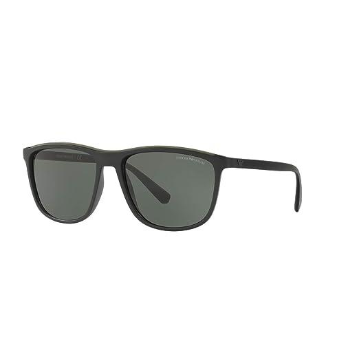Gafas de Sol Emporio Armani EA 4109 MATTE BLACK/GREEN hombre ...