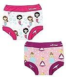 Ez Undeez Toddler Underwear Girls Padded Potty Training Pants Easy Pull Ups (3T, Mermaids-Princess)