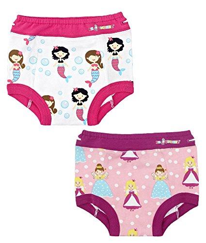 Pink//White//Flower Lamaze Organic Baby Girls Toddler Organic 4 Pack Training Pants 2T
