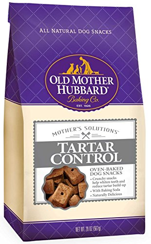 Old Mother Hubbard Mother's Solutions Tartar Control Crunchy Natural Dog Treats, 20-Ounce Bag (Tartar Control)
