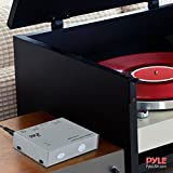 Pyle Phono Turntable Preamp - Mini Electronic Audio Stereo Phonograph Preamplifier with RCA Input, RCA Output & Low Noise Operation Powered by 12 Volt DC Adapter