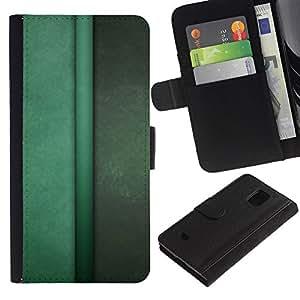 All Phone Most Case / Oferta Especial Cáscara Funda de cuero Monedero Cubierta de proteccion Caso / Wallet Case for Samsung Galaxy S5 Mini, SM-G800 // Vertical Lines Green Pastel Calm