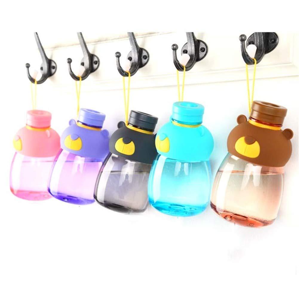 JP0SDD Auslaufsicheres Wasser Fütterung Flasche Cartoon Kid Wasserkocher Schule Flaschen   Bear Shaker Sport Trinkflasche