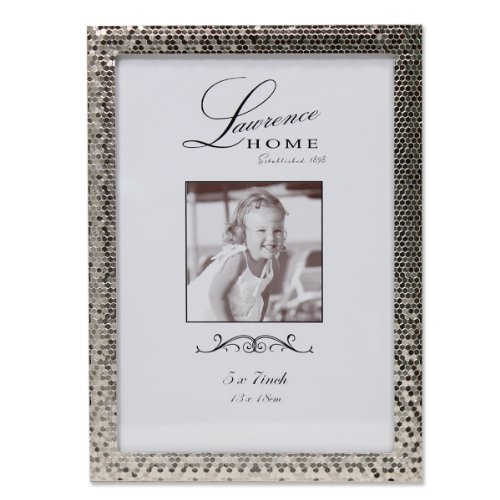 Lawrence Frames Shimmer Metal Picture Frame, 5 by 7-Inch, Silver