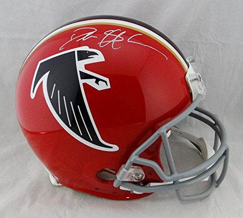 Deion Sanders Helmet - Deion Sanders Autographed Falcons F/S Proline 66-69 TB Helmet - JSA W Auth Wh N/O