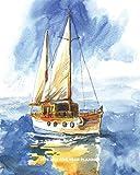 2020-2024 Five Year Planner: Peaceful Watercolor Ocean Sailboat | 60 Month Calendar and Log Book | Business Team Time Management Plan | Agile Sprint | ... 5 Year - 2020 2021 2022 2023 2024 Calendar)