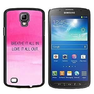TECHCASE---Cubierta de la caja de protección para la piel dura ** Samsung Galaxy S4 Active i9295 ** --Amor Aliento motivación de la cita Pink Sky