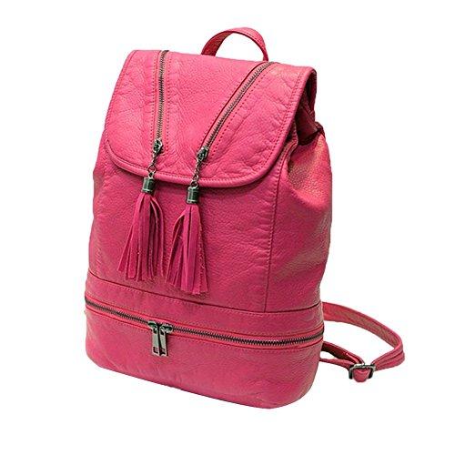 tellw–comercial de viaje de ocio Mini mochila bolsa, mujer, negro, 26cm*13cm*35cm rosa (b)