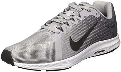 Nike Women's Downshifter 8 Running Shoes, Wolf Grey/Metallic Dark Grey-Cool Grey-Black, 6 US