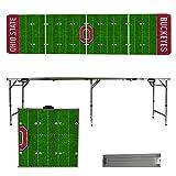 NCAA Ohio State University Buckeyes OSU Football Field Version 8 Foot Folding Tailgate Table,1234,Multicolored