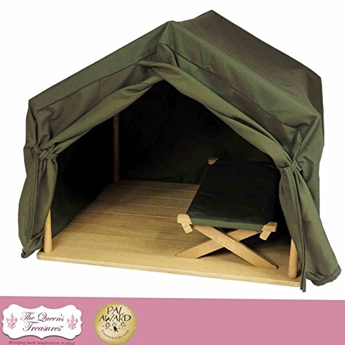 18 Inch Doll Gombe Rainforest Tent & Cot Camping Set. Inspired By Dr. Jane Goodall's Conservation Research. Furniture & Accessories Fits Two American Girl Dolls, Furniture & Accessories