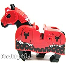 N812 Lego Dragon Battle Horse with Helmet Armor & Barding LOOSE from 70402 (NEW Lego Sold Loose as Image Show)