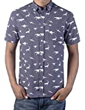 Men's Slim Fit Dinosaur Poplin Button-down Shirt from Artistry in Motion