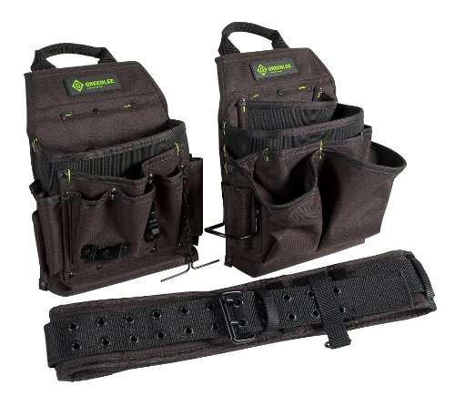 Greenlee 0158-16 Pouch and Belt Combo Pack, 3-Piece (Greenlee Tool Pouch)