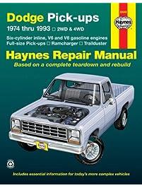 Amazon repair maintenance books engines transmissions dodge fullsize pick ups 1974 thru 1993 2wd 4wd six fandeluxe Choice Image