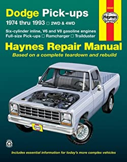 Dodge pick ups 1994 2001 haynes repair manuals haynes dodge fullsize pick ups 1974 thru 1993 2wd 4wd six fandeluxe Choice Image