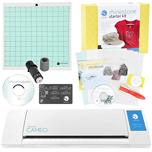 Silhouette Digital Craft Cutter with Rhinestone Starter Kit (Digital Silhouette Cutter Craft)
