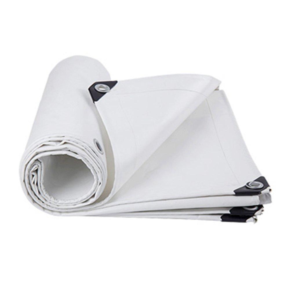 CHAOXIANG オーニング 厚い 折りたたみ可能 両面 防水 日焼け止め 防風 防塵の 耐摩耗性 耐寒性 耐食性 PE 3色、 150g/m 2、 厚さ 0.32mm、 10サイズ (色 : 白, サイズ さいず : 3x4m) B07DC6B851 3x4m 白 白 3x4m