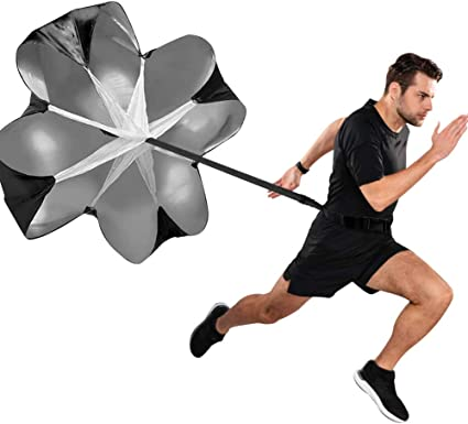 Stamina Strength and accelleration 56 inch Speed Resistance Training Parachute Adjustable Strap for improving Speed ZongDong Running Speed Training