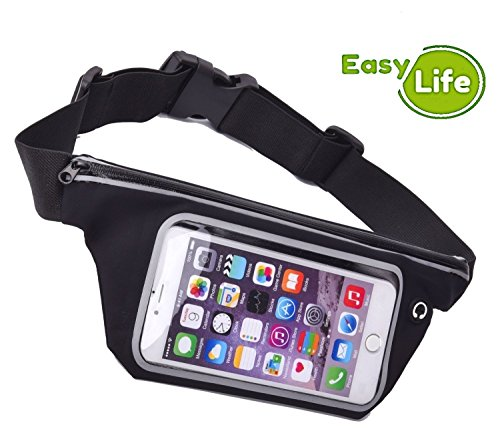 k: Running Waistband Belt. Sport Cellphone Sweatproof holder Case for iPhone 6, 6 Plus +, 5, 5S, 5C, 4, 4S, iPod Touch, Samsung Galaxy S6, S5, S4, Note 4, 5, Edge, Universal Fit (Ipod Waist Belt)