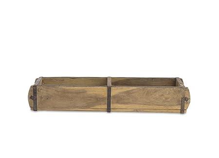 Natural Reclaimed Wood Brick Mould Large Storage Box By Nkuku