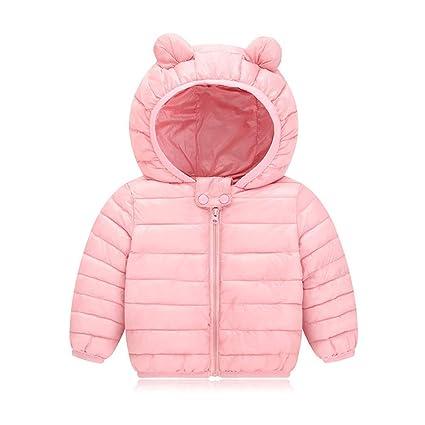 56b06e75f141f AIKSSOO 新生児 ダウンジャケット 女の子 男の子 軽量 ベビー服 コート 冬用 フード付き 防寒 ピンク 80