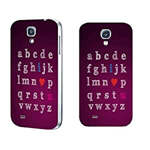 Pretty Stylish Monogram Series Phone Case Samsung Galaxy S4 I9500 with Quotes Custom Design Hard Plastic Case Cover Skin Protector (purple red monogram BY426)