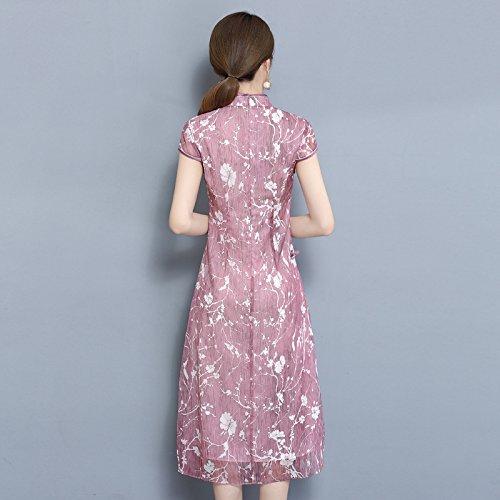 Pink Rosa Vestidos RONG XIU Cheongsam 6XIxw