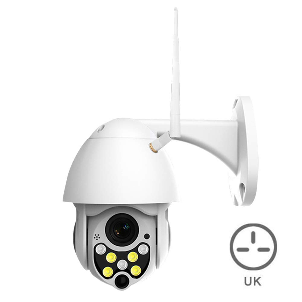 Leoattend Security Camera HD 1080P 7 LED Control IP Camera Mini WiFi Outdoor Dome Home Security IP Cameras Night Vision Full Color Motion Detection Hotspots Cam Monitor