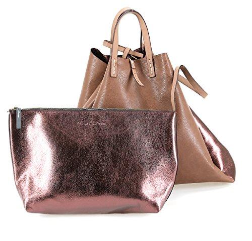 Borsa Manila Grace felicia Bag big tote w01273 md572 malva metal fw 17/18